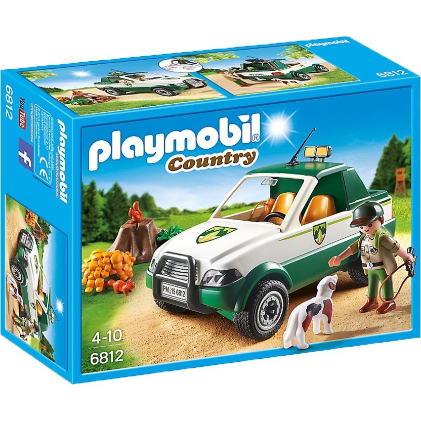 Playmobil - Vida en el campo Guardabosques con Pick Up - 6812