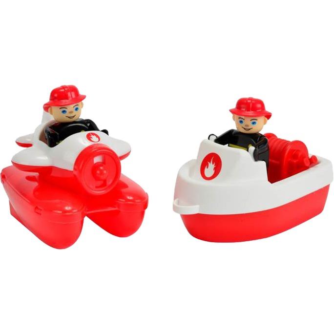 800055133 Barco de juguete para el baño Rojo, Blanco juguete para baño y pegatina, Juguetes de agua