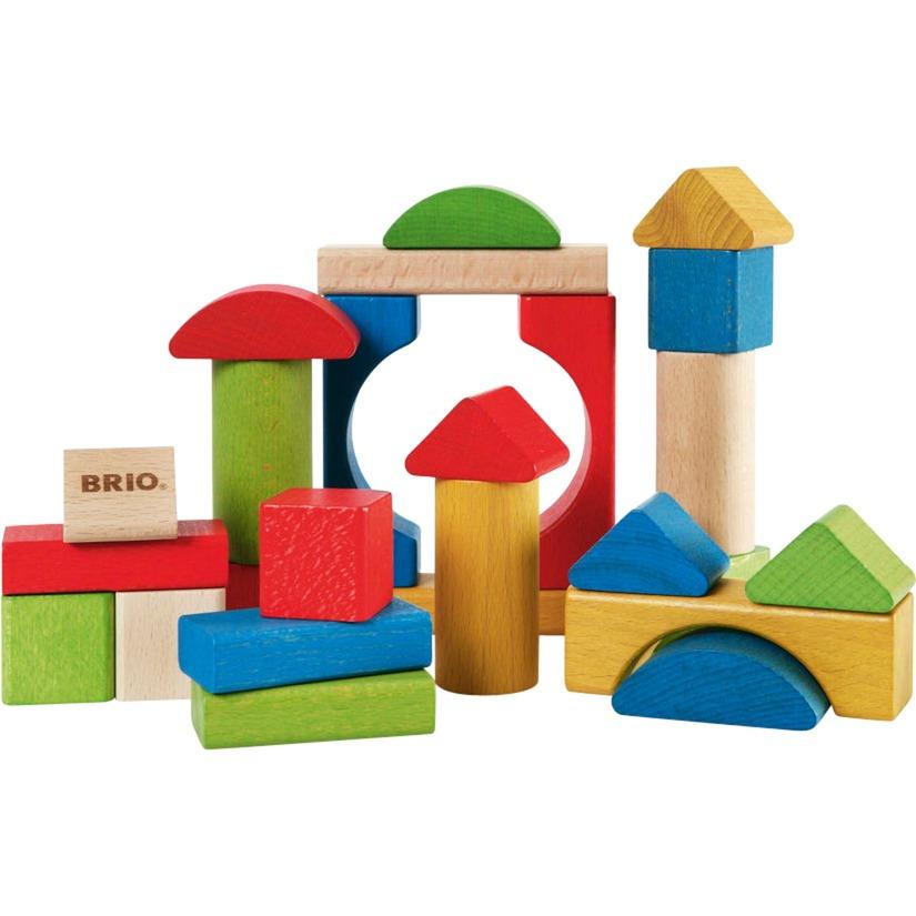 30114 Bloques de construccion de madera de color, Bloques de construcción