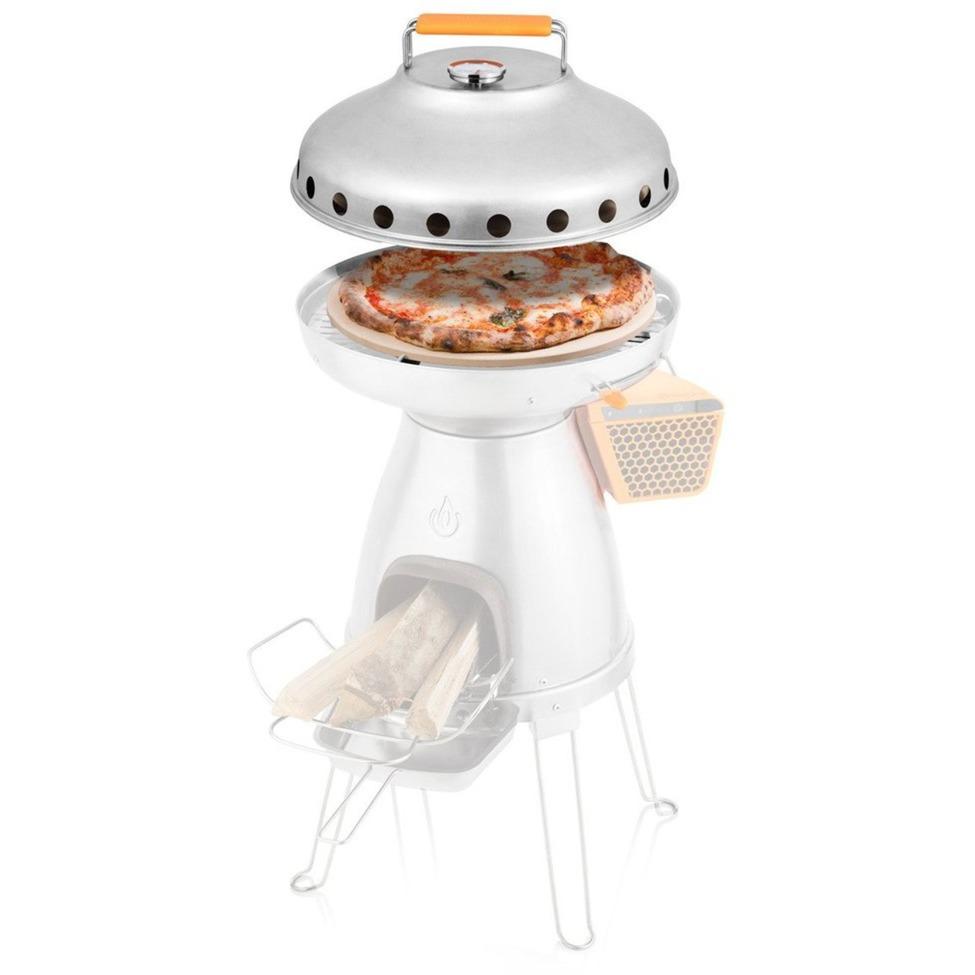 CAB1001 2000g Cerámico, Silicona, Acero inoxidable Acero inoxidable accesorio para hornillo de camping, Piedra para pizza