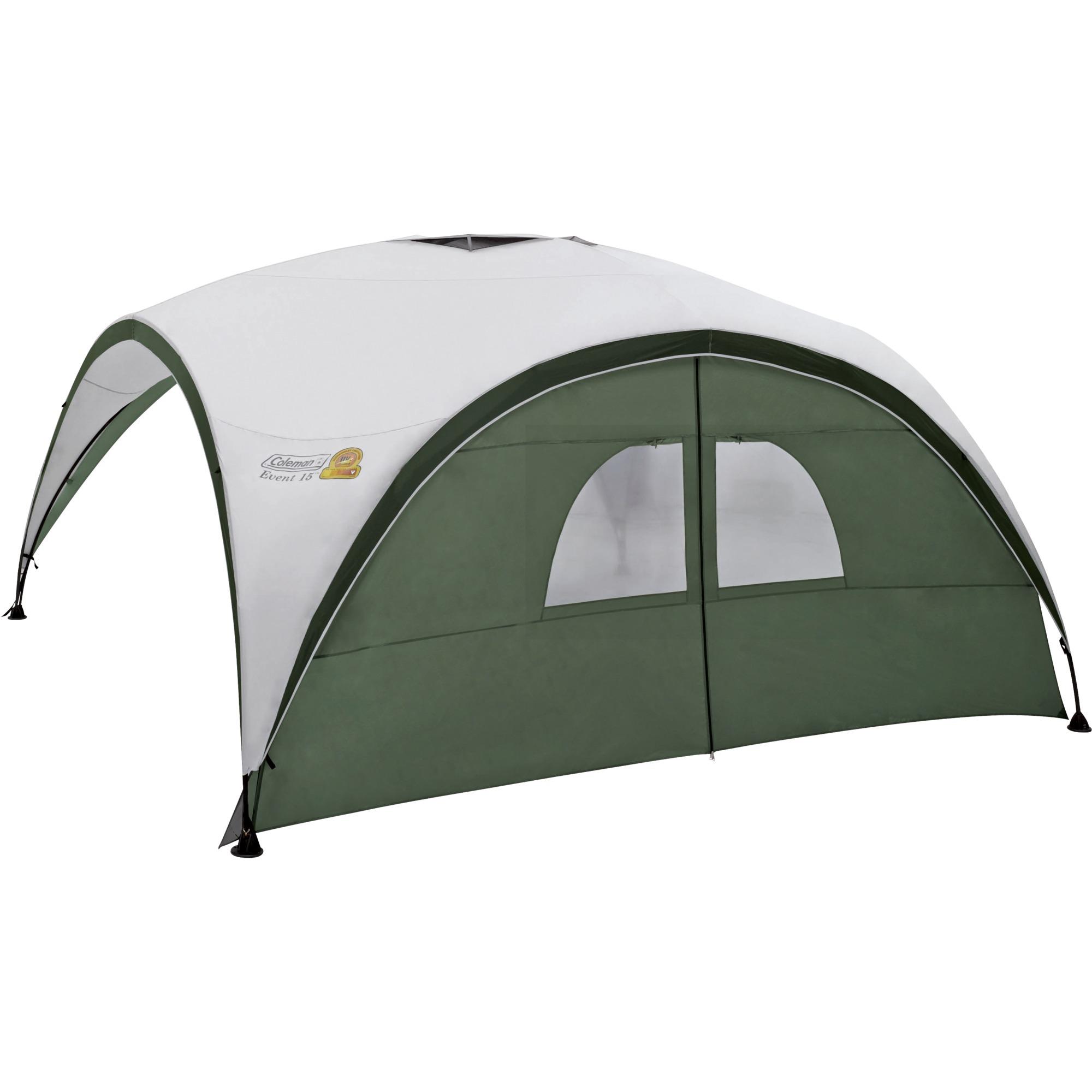2000009775 Verde, Color blanco toldo y carpa para camping, Lateral