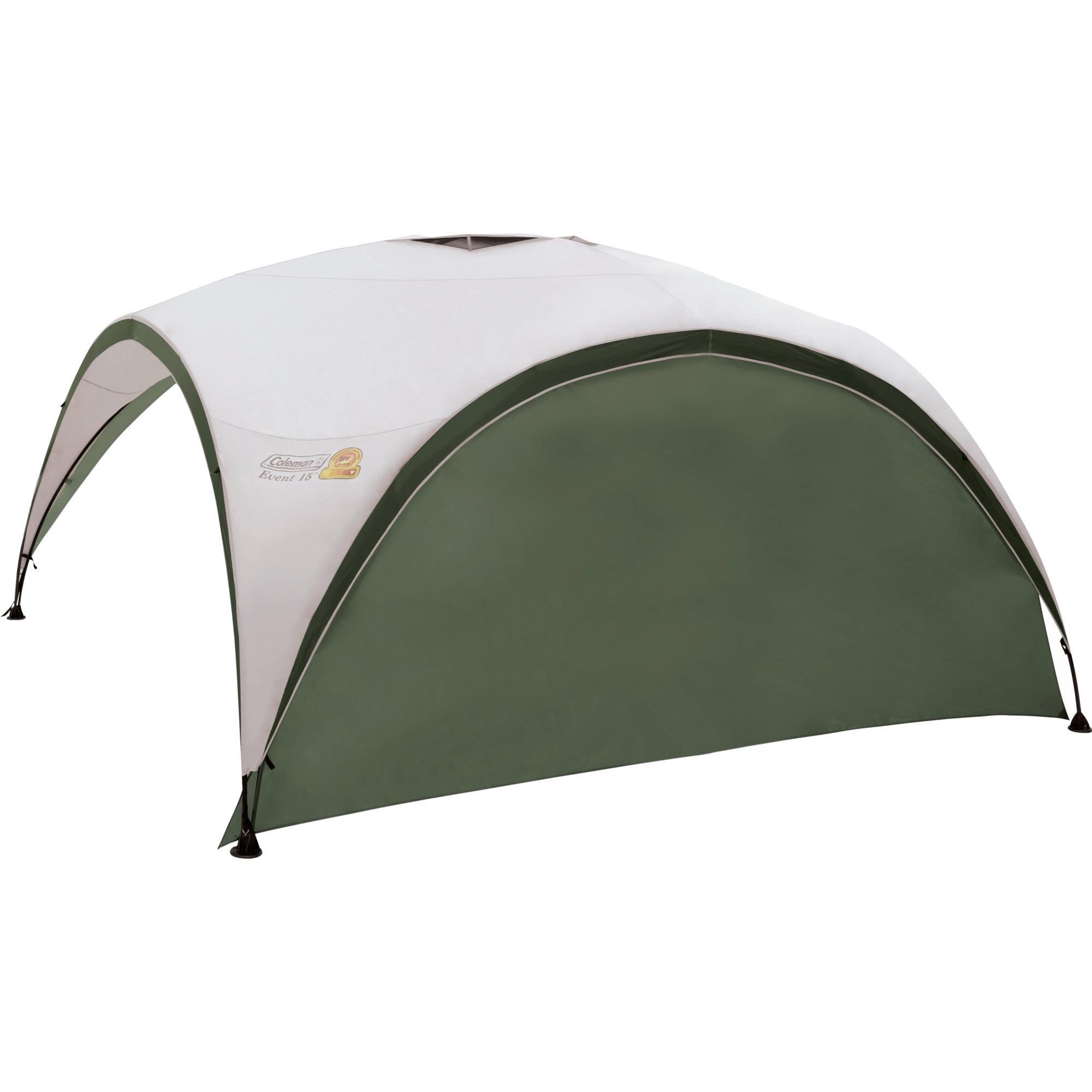 2000009776 Verde, Color blanco toldo y carpa para camping, Lateral