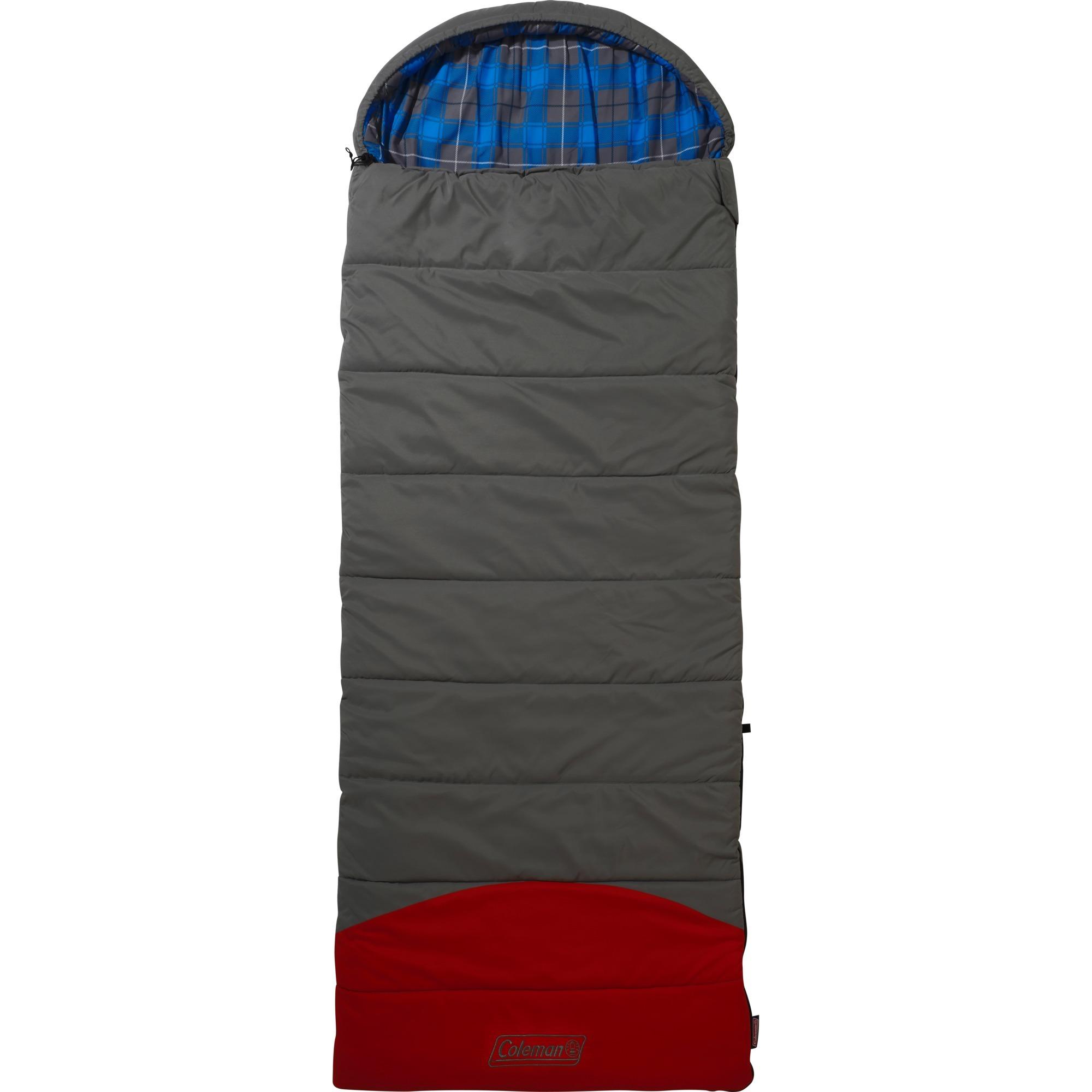 2000030216 saco de dormir Rectangular sleeping bag Poliéster Gris, Rojo Adulto