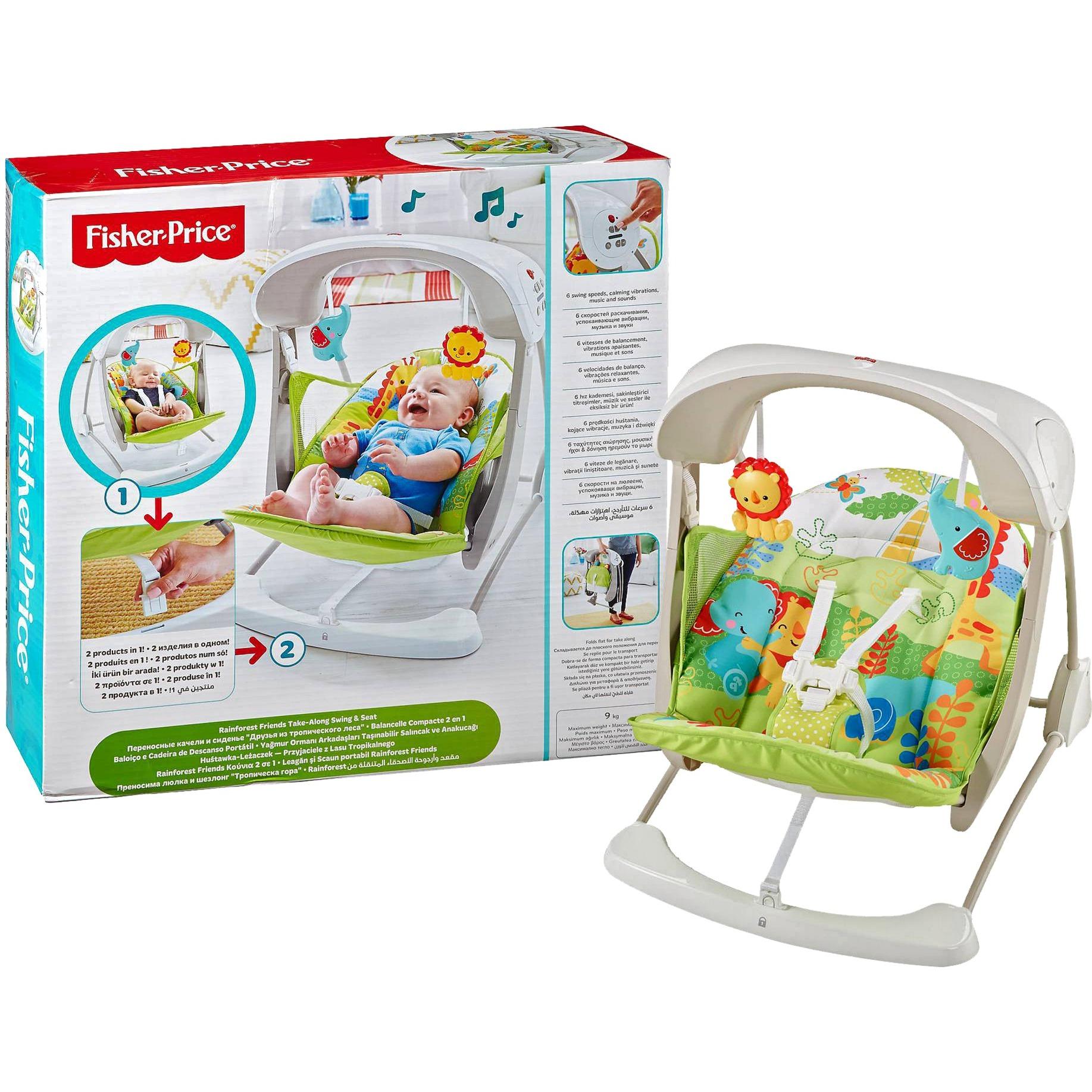 Everything Baby CCN92 Verde, Color blanco mecedora y silla para bebés, Balancín