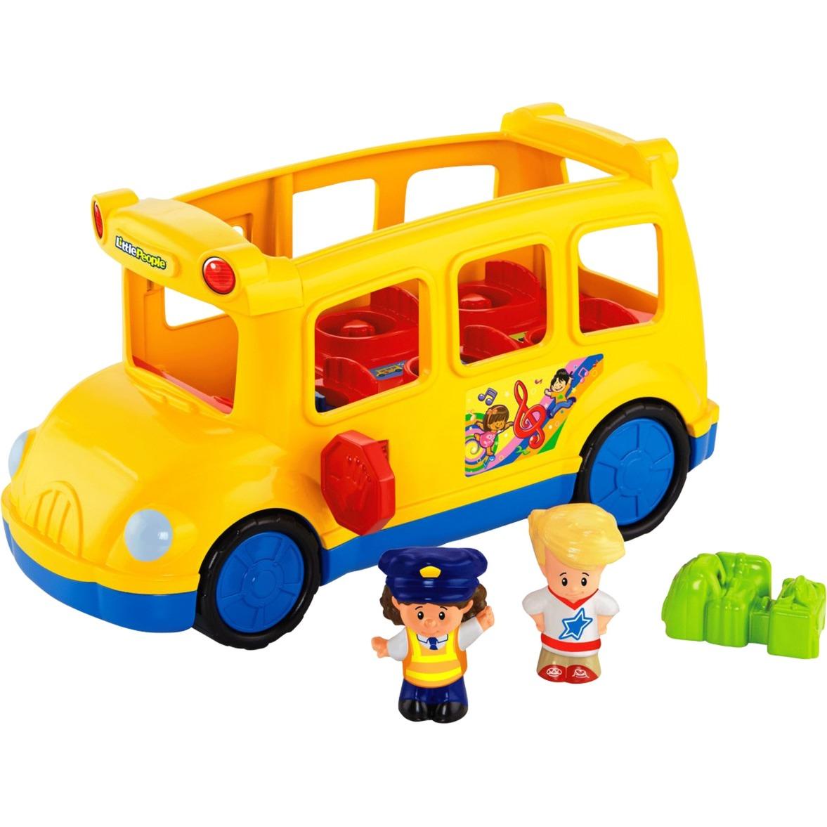 Little People School Bus De plástico vehículo de juguete, Automóvil de construcción