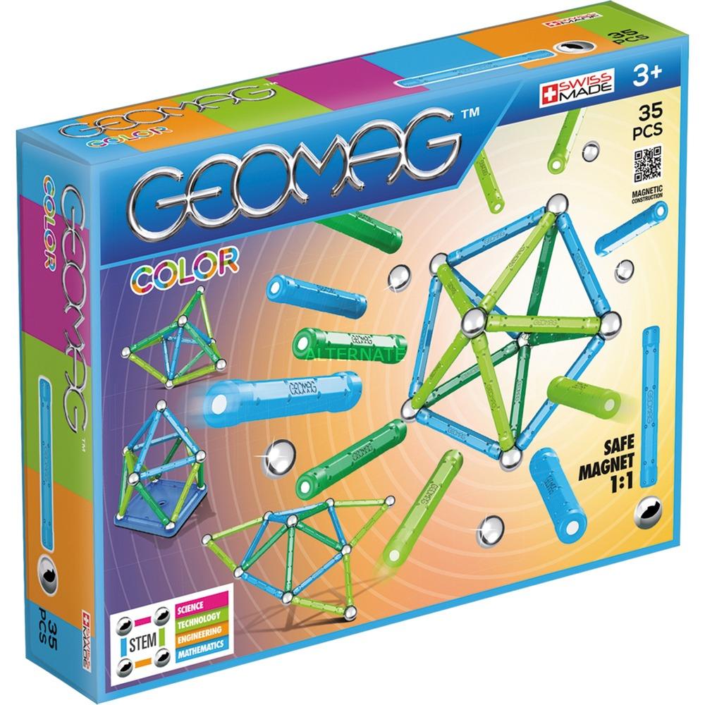Color 35 pcs juguete de imán de neodimio 35 pieza(s) Multicolor, Juegos de construcción