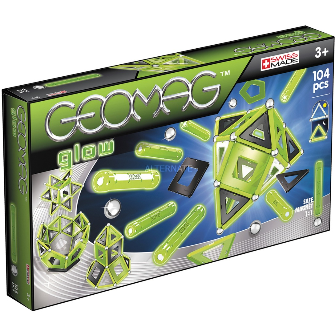 Color Glow 104 pcs juguete de imán de neodimio 104 pieza(s) Verde, Juegos de construcción
