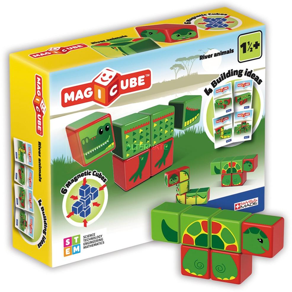 MagiCube River Animals - 6 pcs, Juegos de construcción