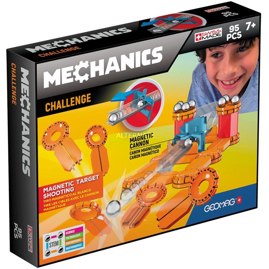 Mechanics GM771 juguete de imán de neodimio 95 pieza(s) Azul, Naranja, Rojo, Plata, Juegos de construcción