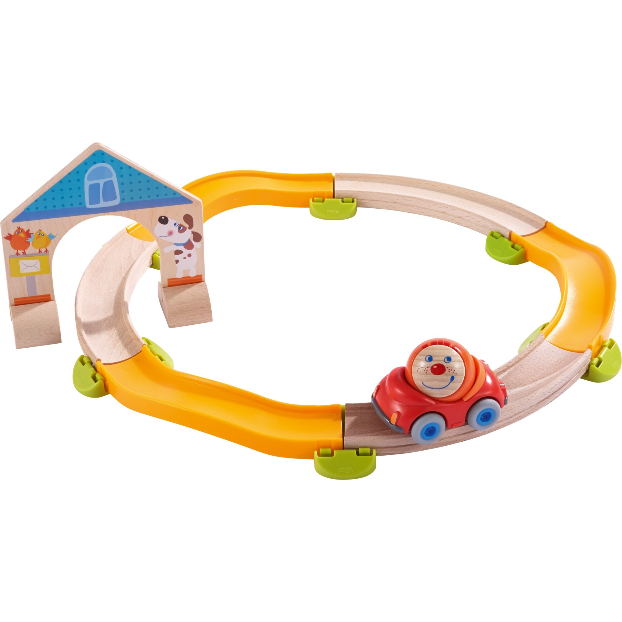 302057 De plástico, Madera pista para vehículos de juguete, Ferrocarril