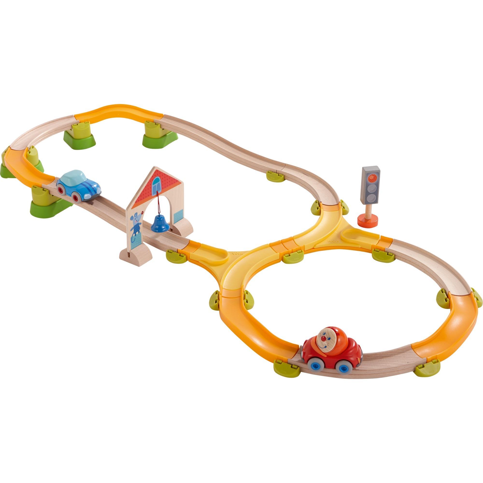 302058 De plástico, Madera pista para vehículos de juguete, Ferrocarril