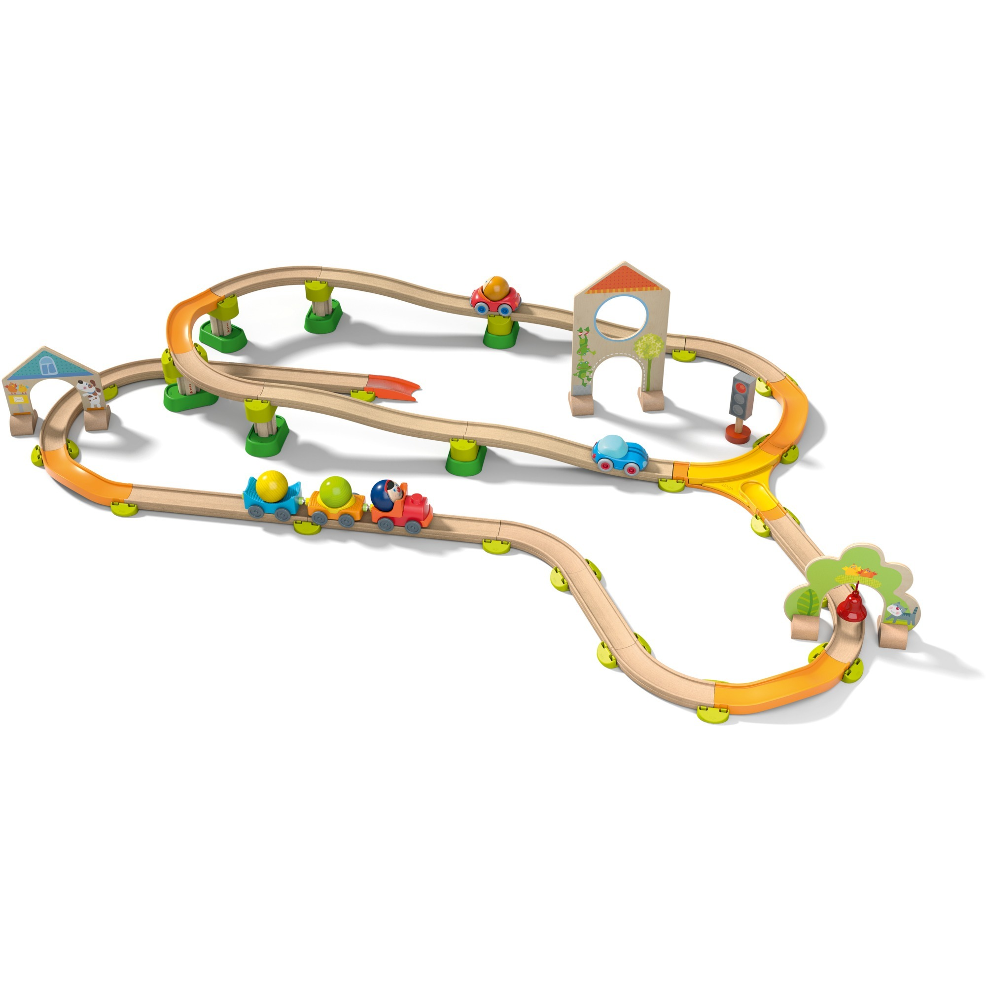 302061 De plástico pista para vehículos de juguete, Ferrocarril