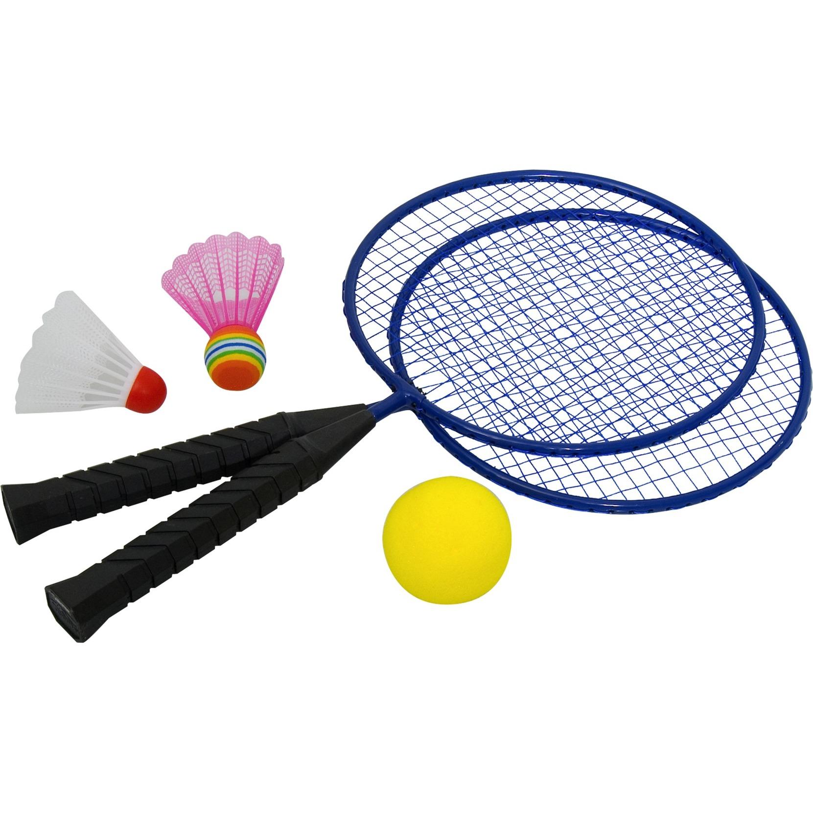 76046 Acero Negro, Azul 2pieza(s) raqueta para bádminton, Aparato para fitness