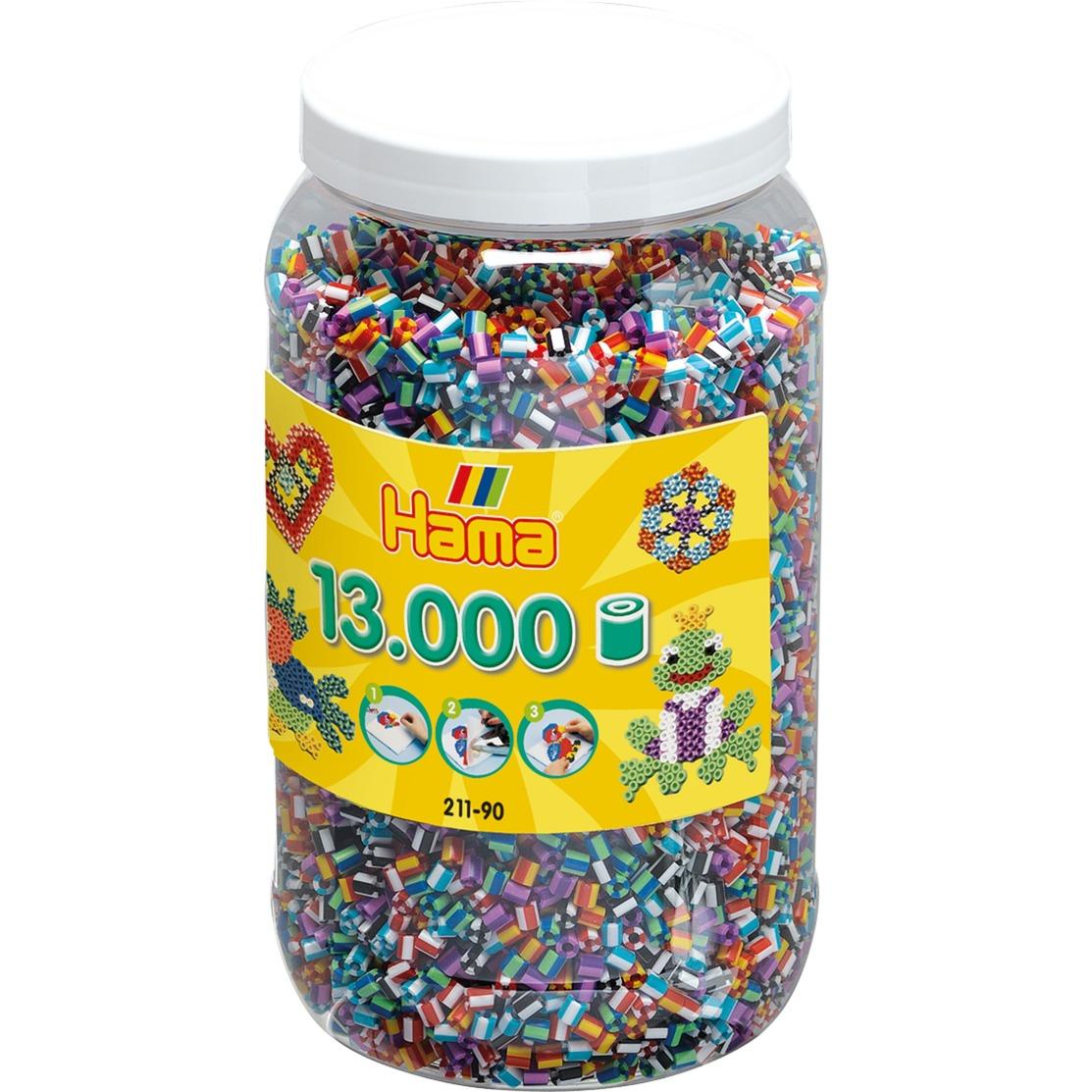 211-90 abalorio Tube bead Multicolor 13000 pieza(s), Manualidades