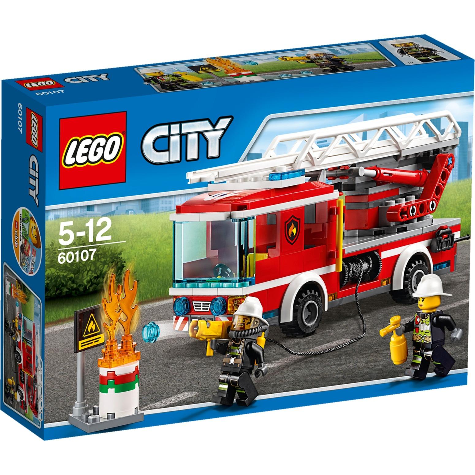 City 60107 Camión de bomberos con escalera, Juegos de construcción