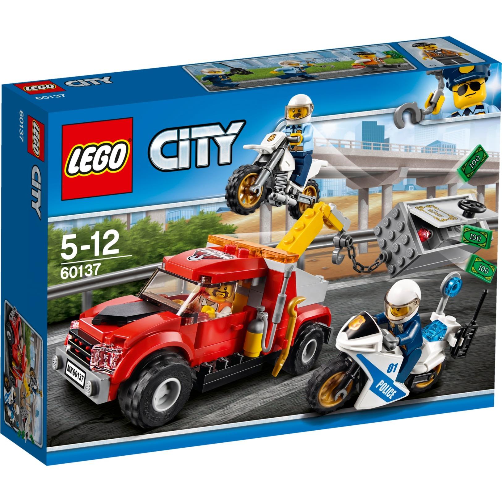 City 60137 Camión grúa en problemas, Juegos de construcción