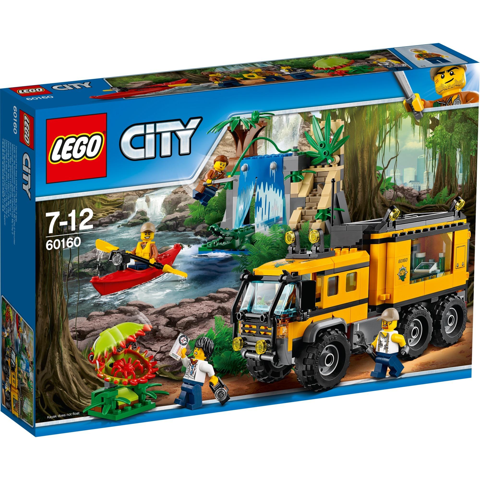 Lego City 60160 Jungla Laboratorio Movil Juegos De Construccion