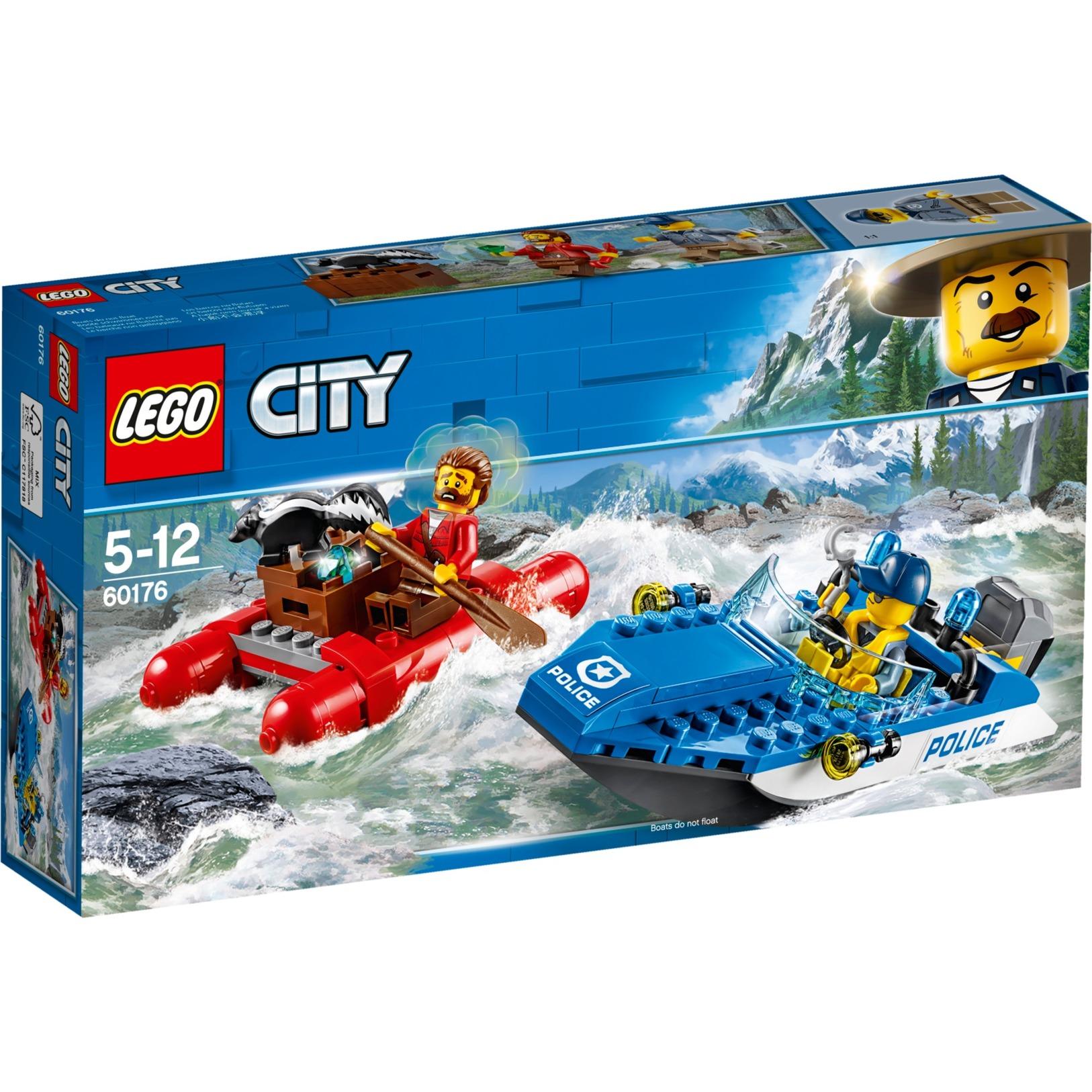 City 60176 Escape en Aguas Salvajes, Juegos de construcción