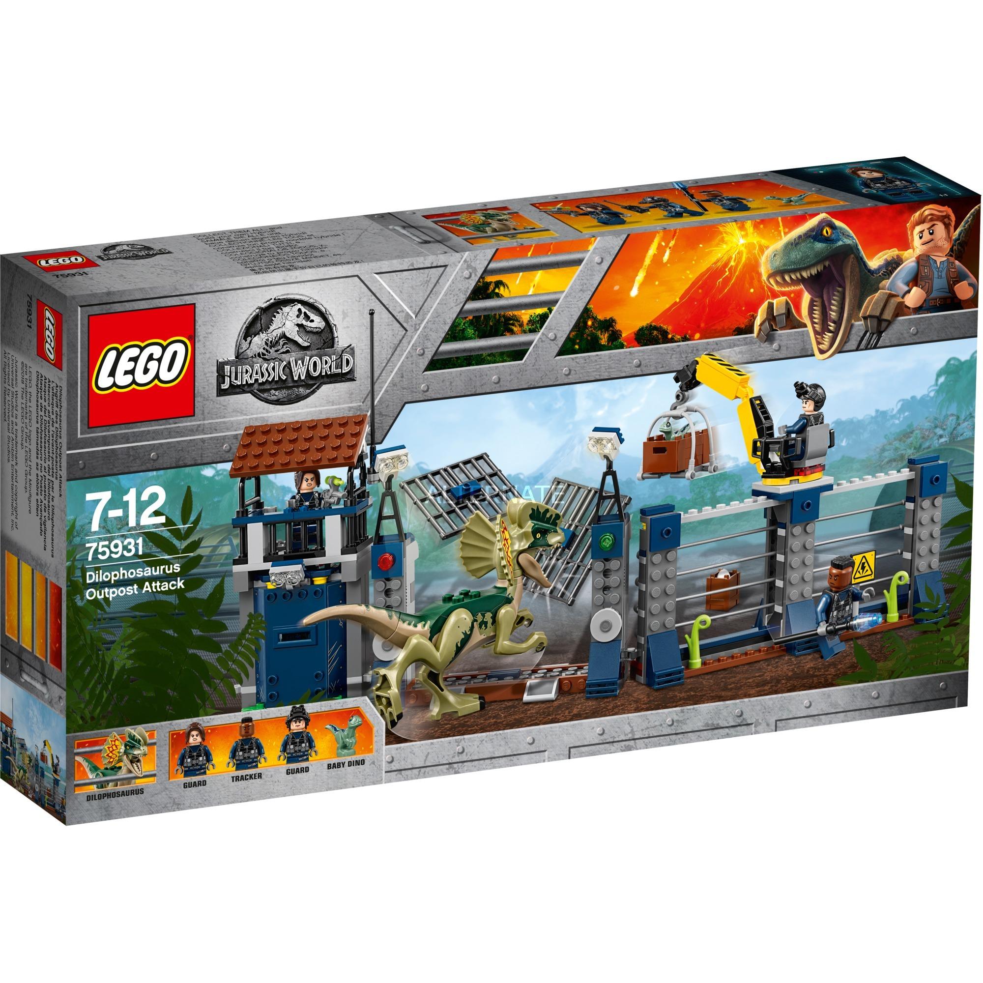 Lego Jurassic World 75931 Ataque Del Dilofosauro Juegos De Construccion