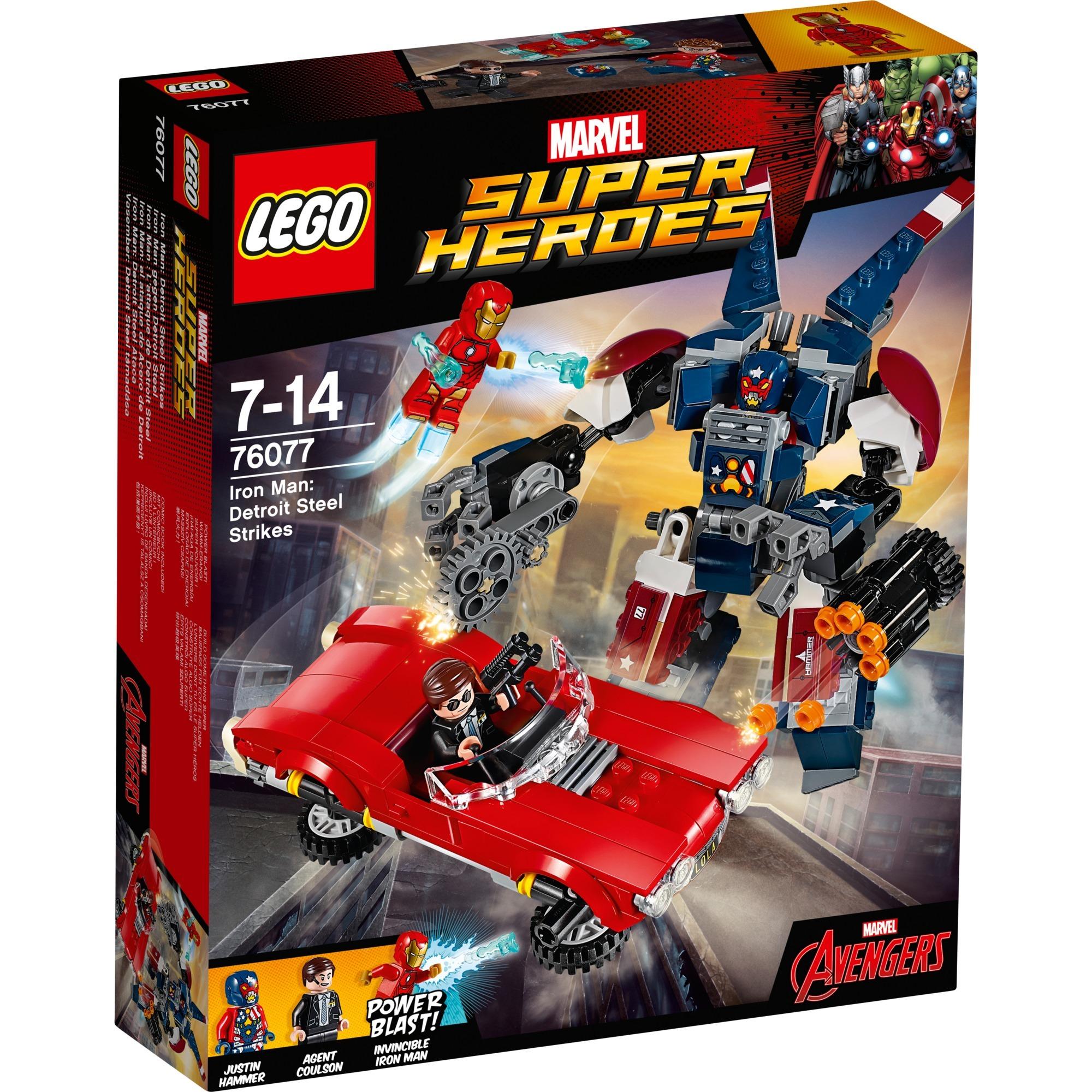 Marvel Super Heroes 76077 Iron Man: el ataque de Acero de Detroit , Juegos de construcción