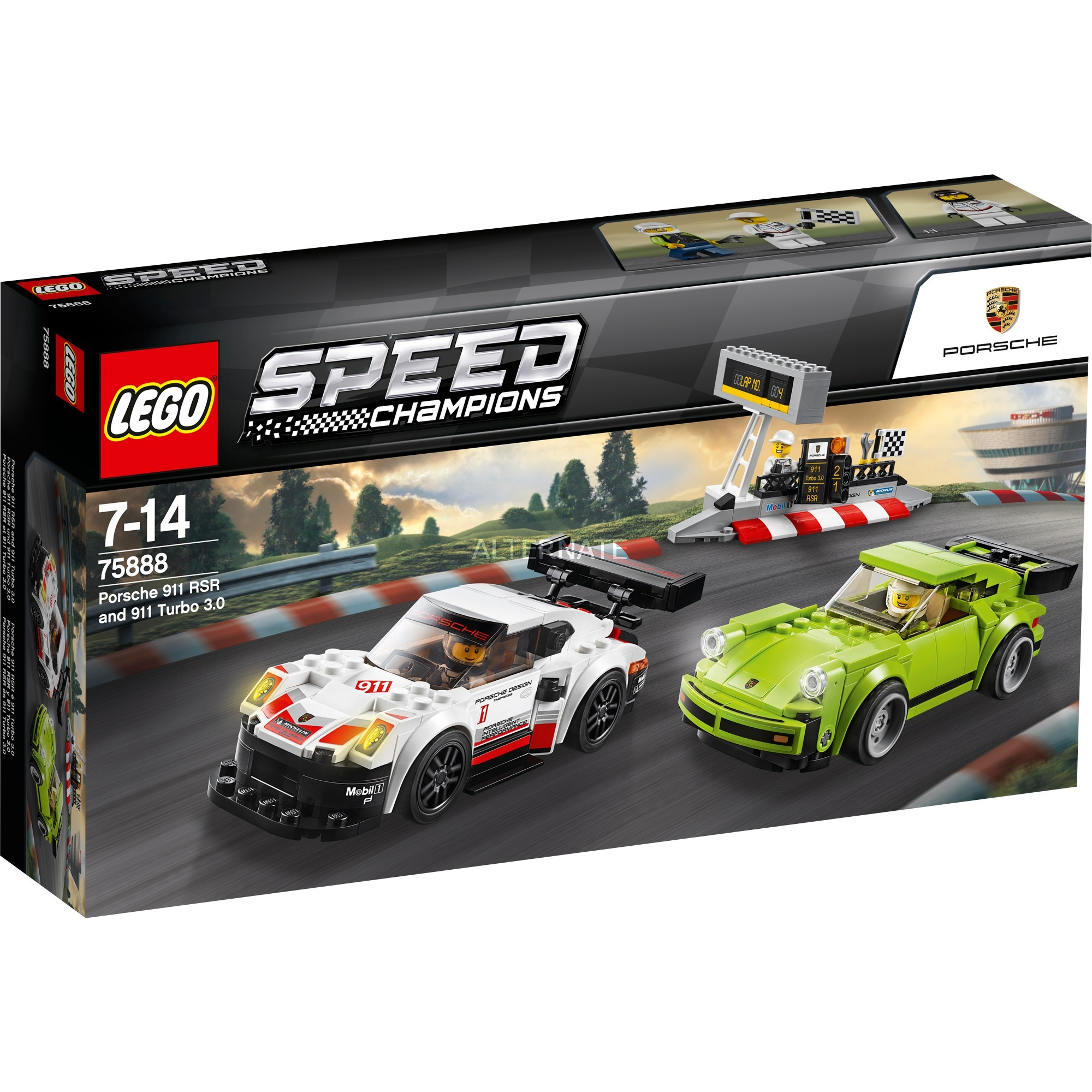 LEGO Speed Champions - Porsche 911 RSR y 911 Turbo 3.0 - 75888