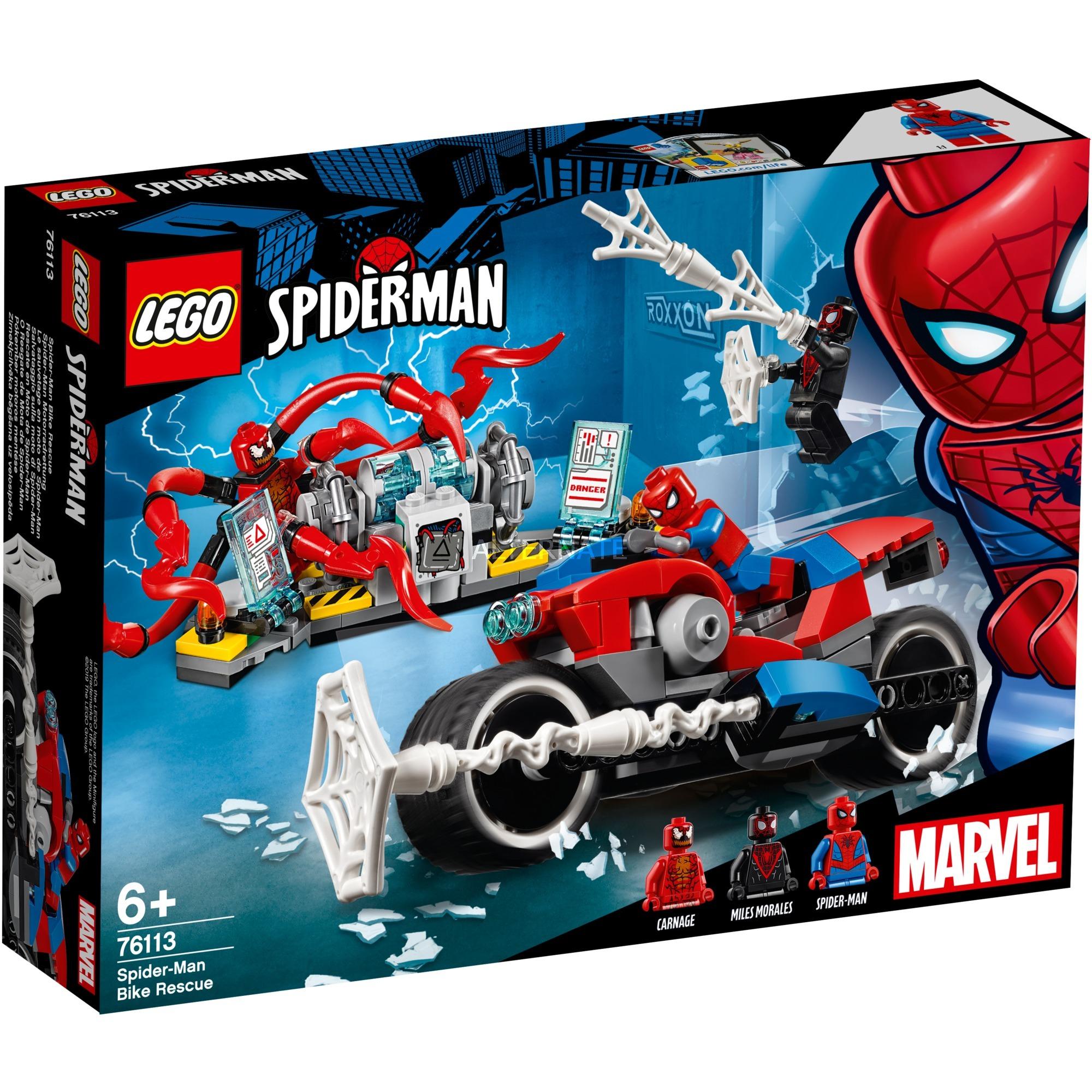 LEGO Superhéroes - Rescate en Moto de Spider-Man - 76113