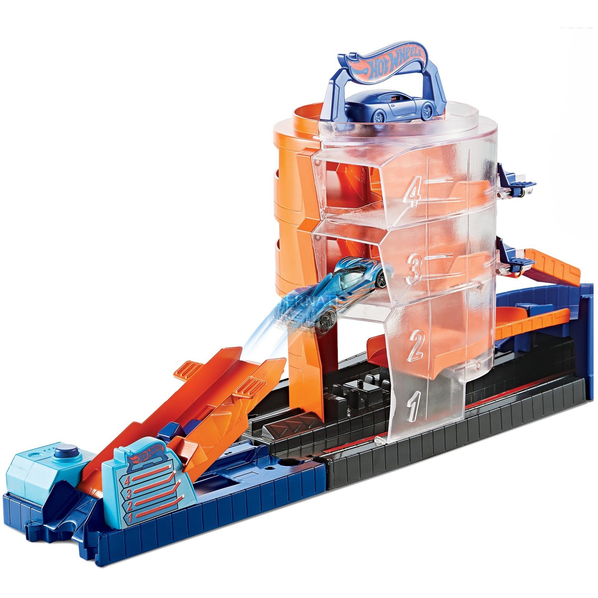 City Super Spin Dealership pista para vehículos de juguete De plástico, Juego de construcción