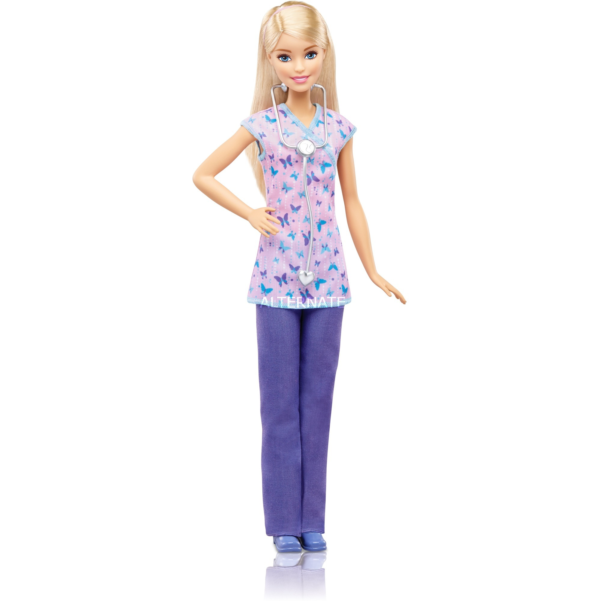 Barbie - Enfermera Pantalón Lila - Muñeca Yo Puedo Ser