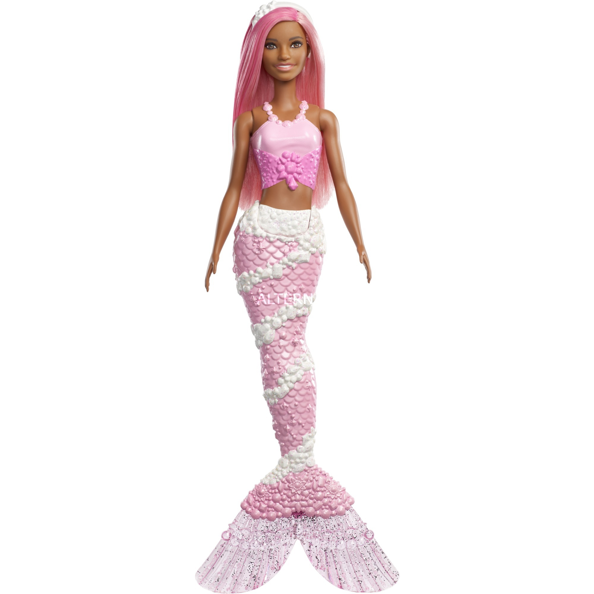 Barbie - Muñeca Pelo Rosa - Sirena Dreamtopía
