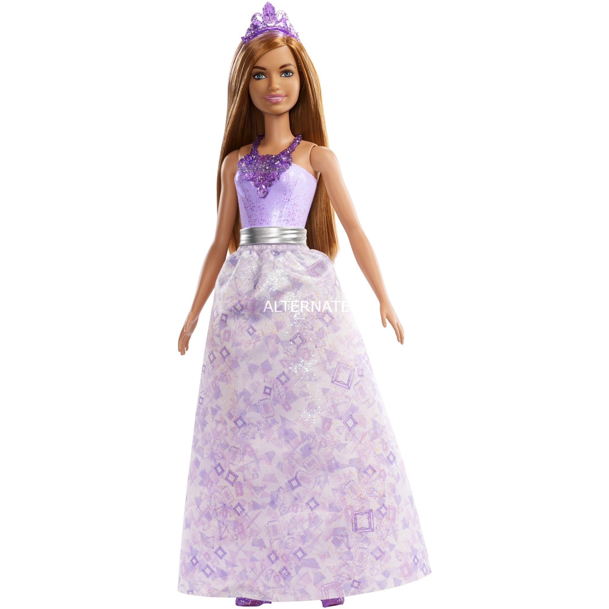 Barbie - Muñeca Pelo Castaño Claro - Princesa Dreamtopia