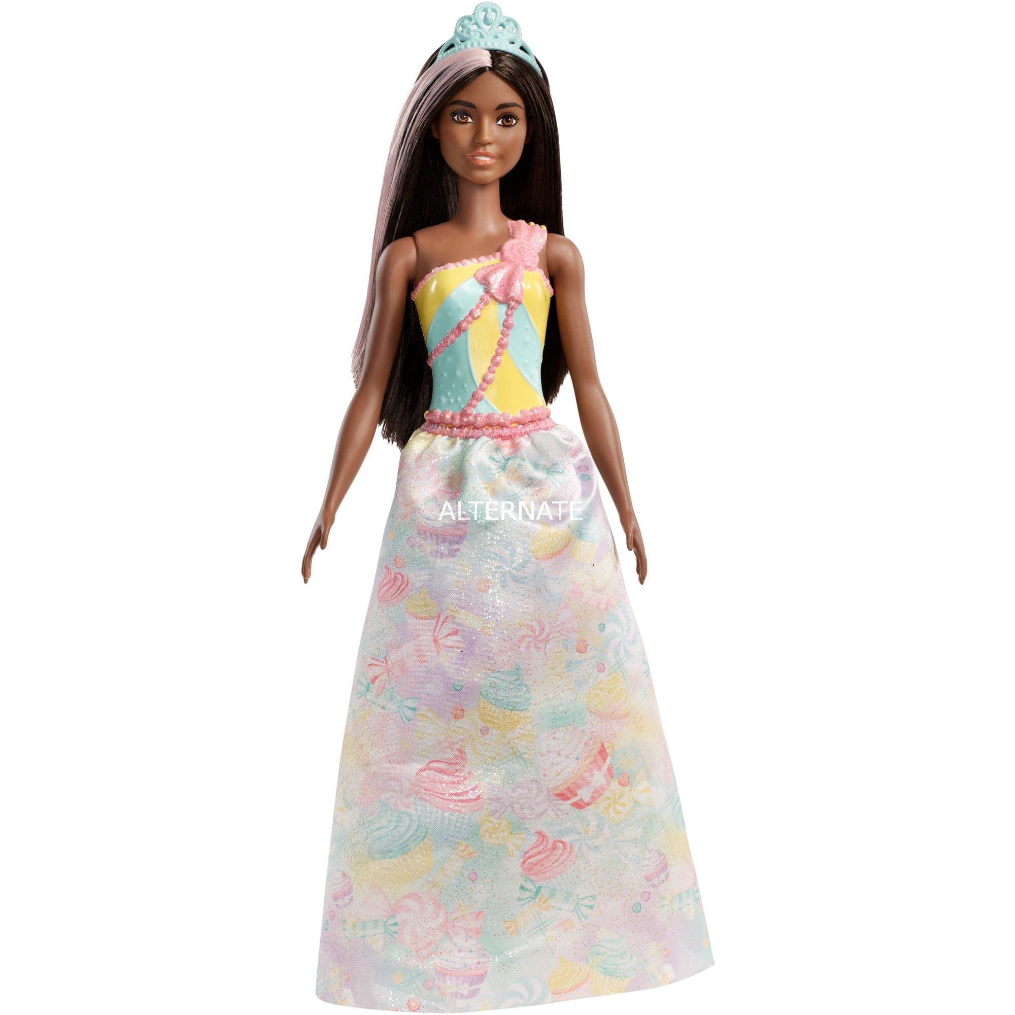 Barbie - Muñeca Pelo Castaño Oscuro - Princesa Dreamtopia