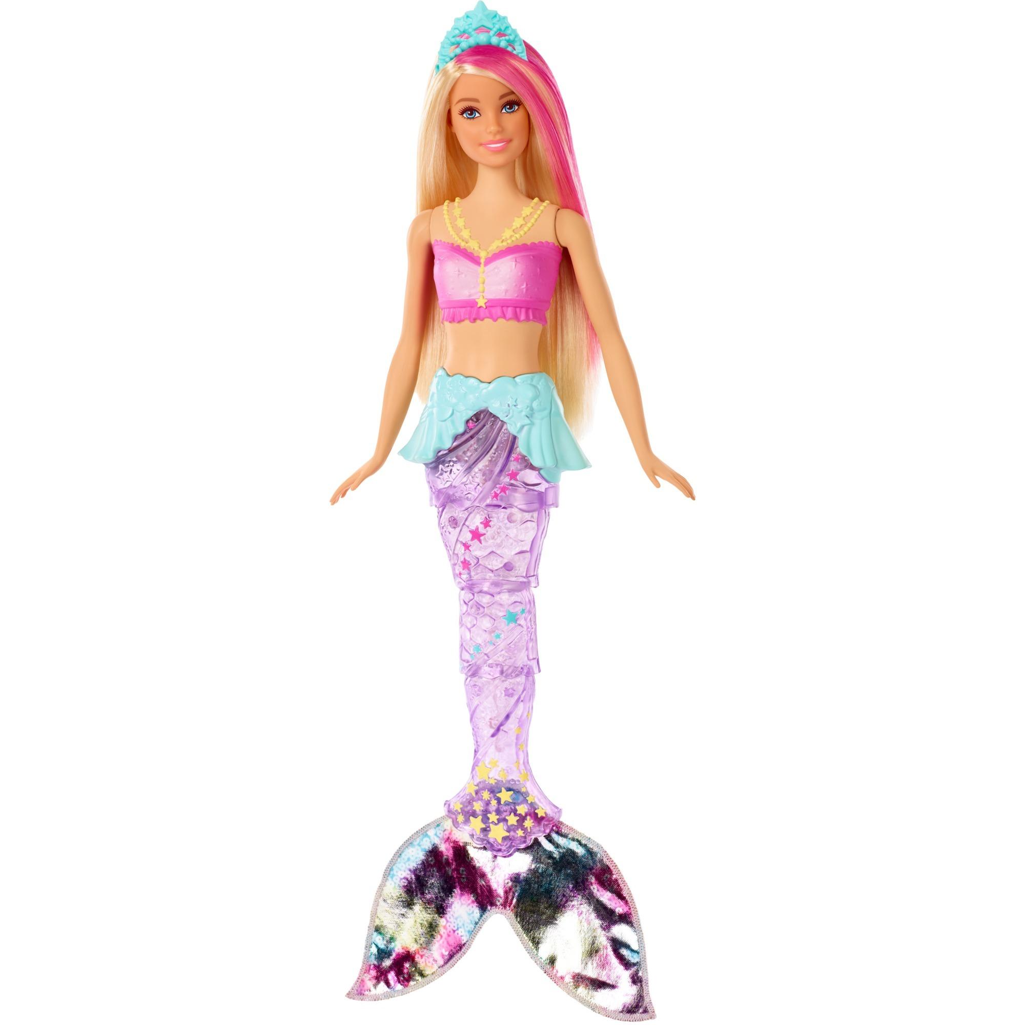 Barbie - Sirena Nada y Brilla - Muñeca Dreamtopia
