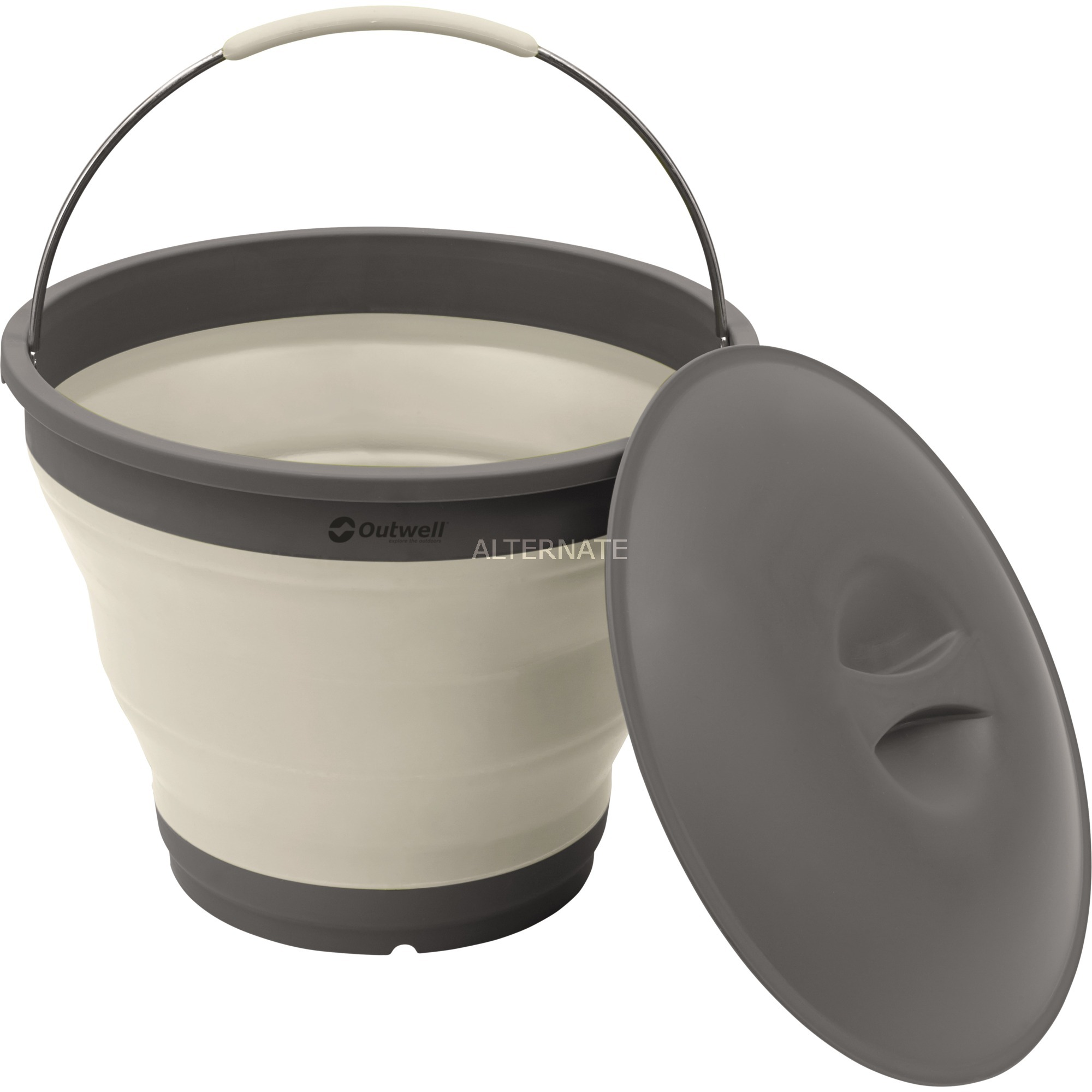 650613 Alrededor De plástico, Elastómero termoplástico (TPE) Blanco caja de almacenaje, Cubo