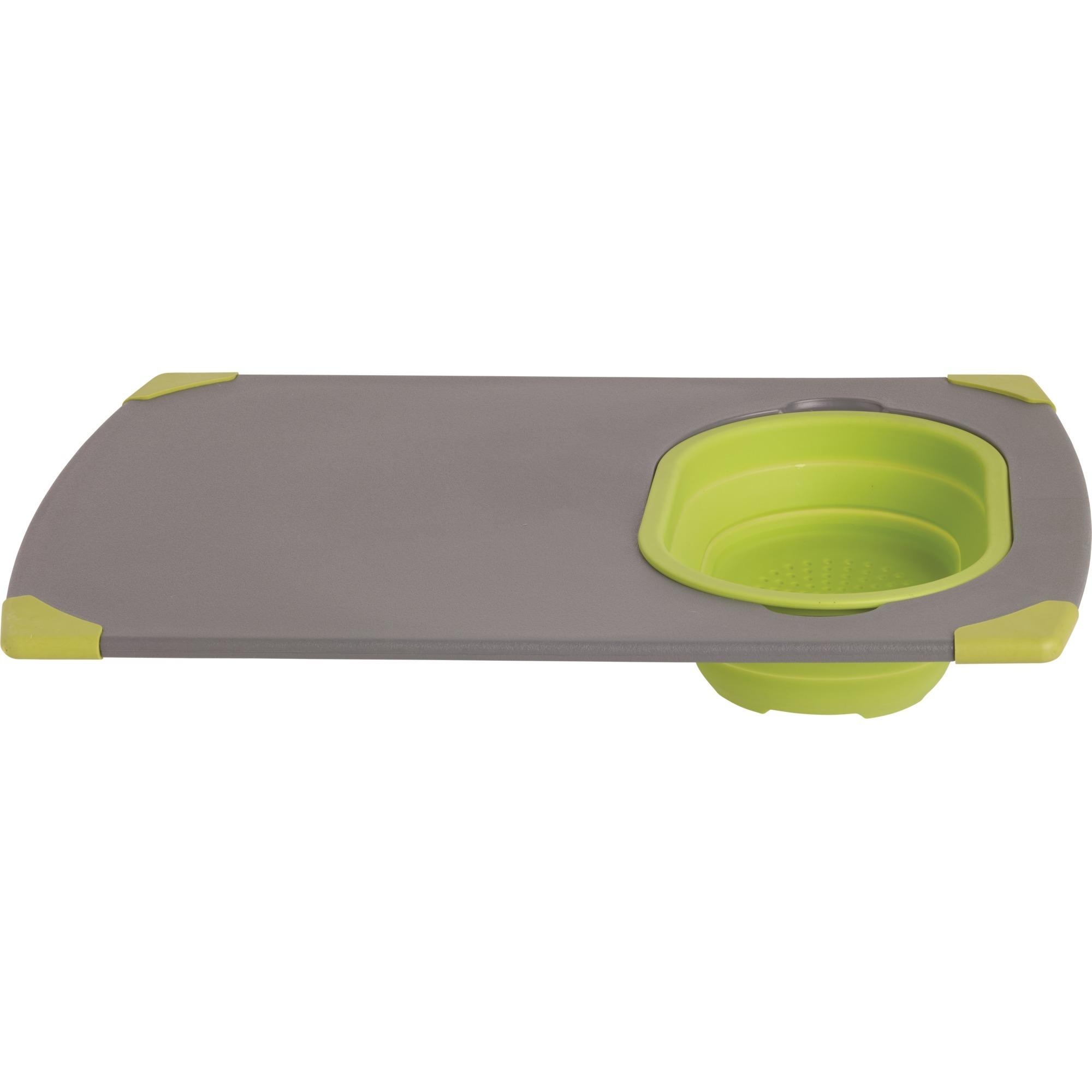 Collaps Schneidebrett De plástico, Silicona Verde, Gris tabla de cocina para cortar, Tablero