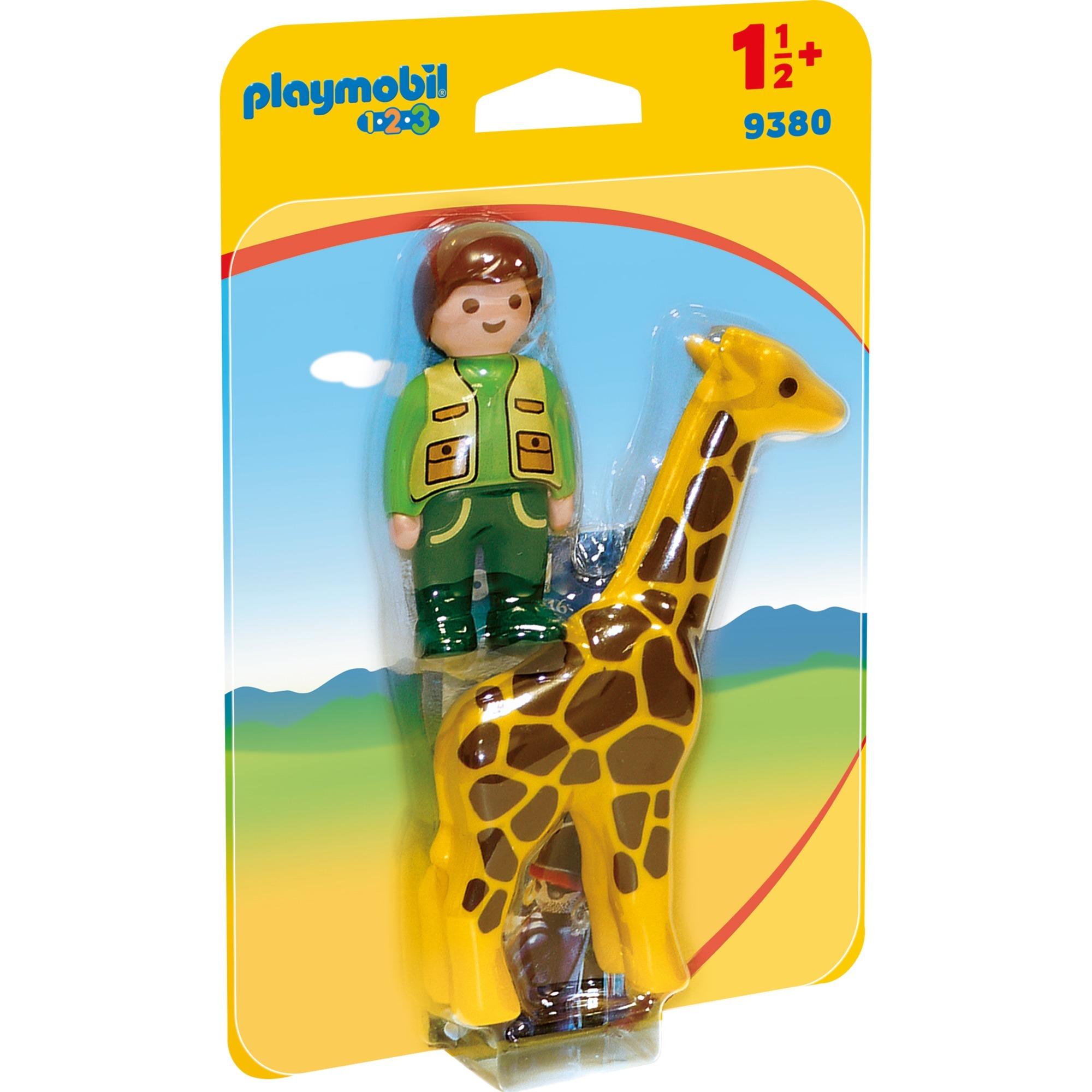 1.2.3 9380 Cuidador de animales con jirafa, Juegos de construcción