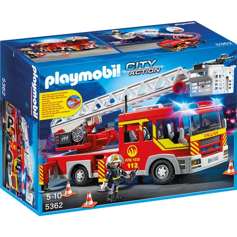 5362 Camión de bomberos con Escalera, Luz y Sonido