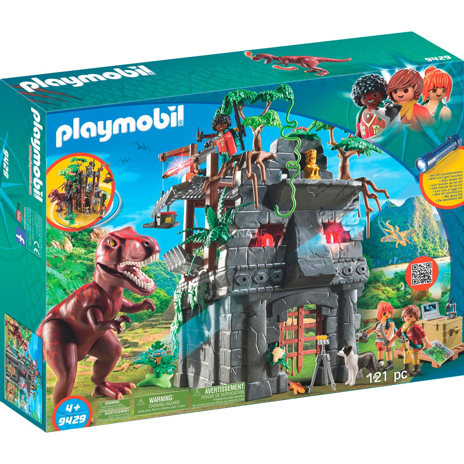 Playmobil - Campamento Base con T-Rex - 9429