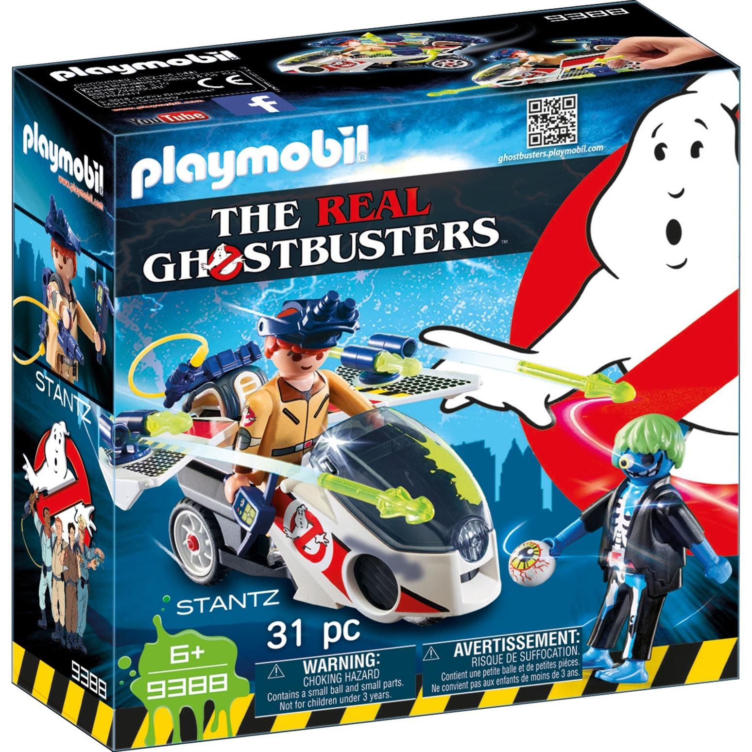 Playmobil - Cazafantasmas Stanz con Moto Voladora - 9388