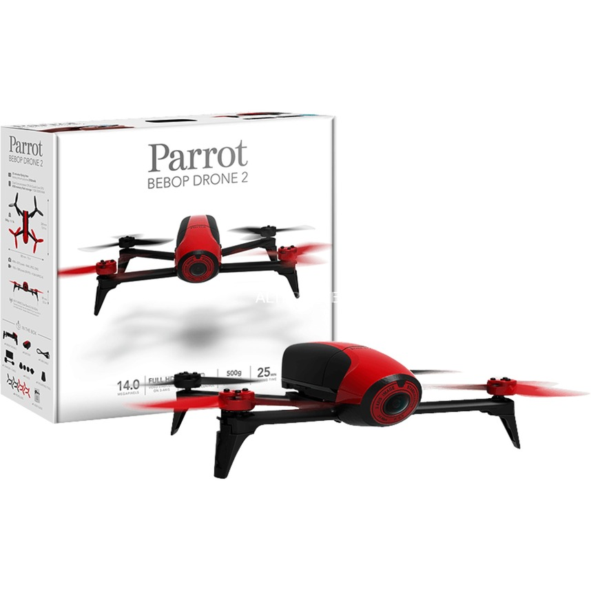 Bebop 2 4rotors 14MP 1920 x 1080Pixeles 2700mAh Negro, Rojo dron con cámara, avión por control remoto