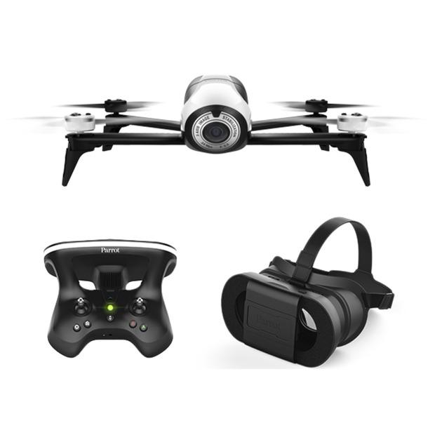Bebop 2 FPV pack dron con cámara Negro, Blanco 4 rotores 14 MP 1920 x 1080 Pixeles 2700 mAh, avión por control remoto