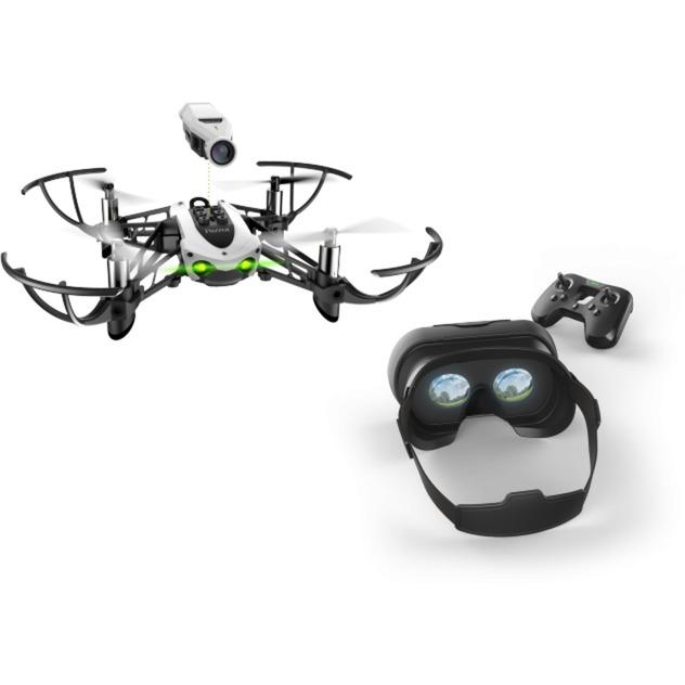 Mambo FPV 4rotores Cuadricóptero 1280 x 720Pixeles 660mAh Negro, Blanco dron con cámara, avión por control remoto