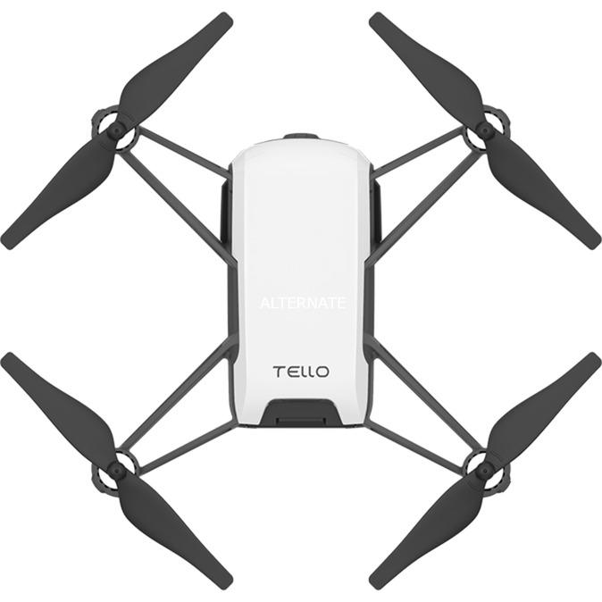 Tello dron con cámara Cuadricóptero Negro, Blanco 4 rotores 5 MP 1280 x 720 Pixeles 1100 mAh, avión por control remoto