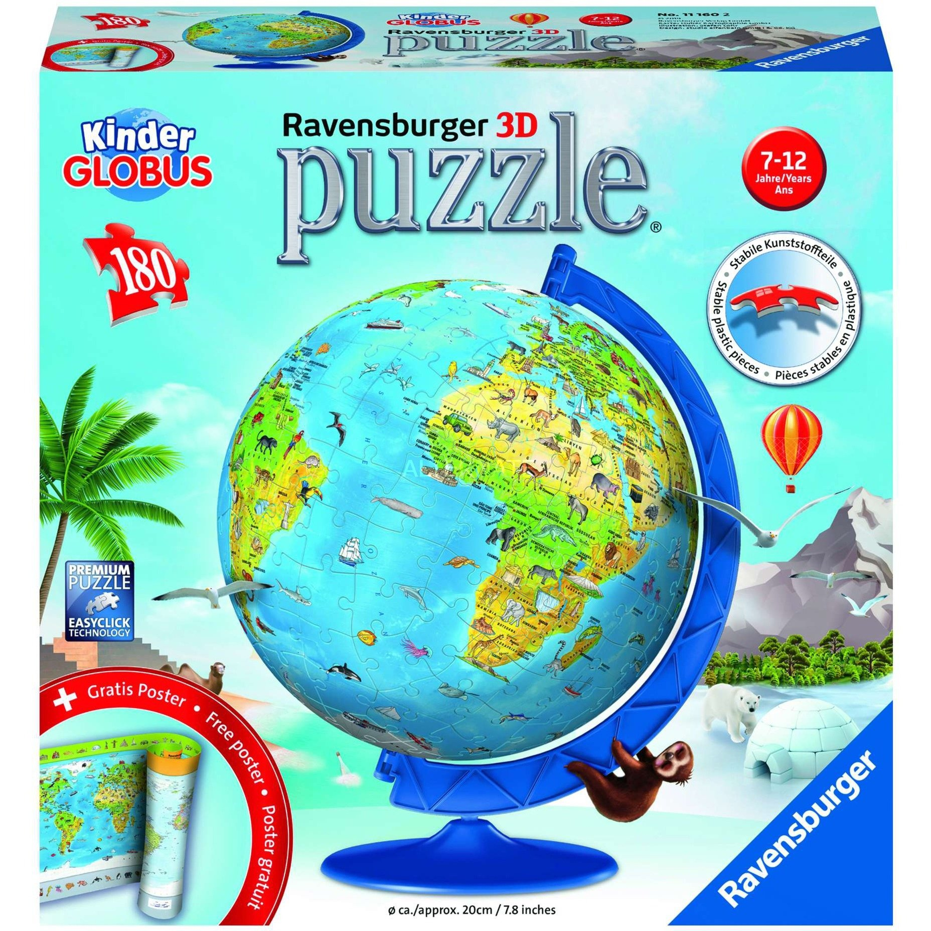 00.011.160 puzle 3D, Puzzle
