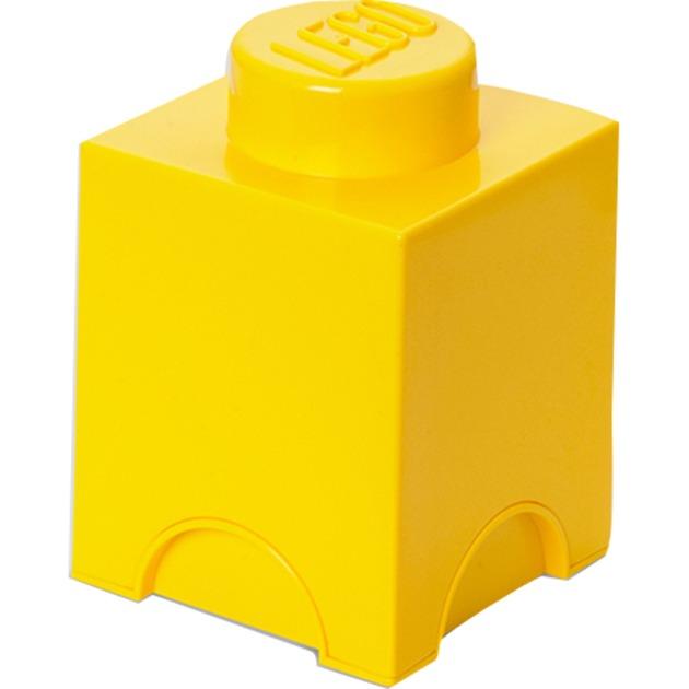 Lego 1 Stud Brick Container - Tamaño Único - Amarillo