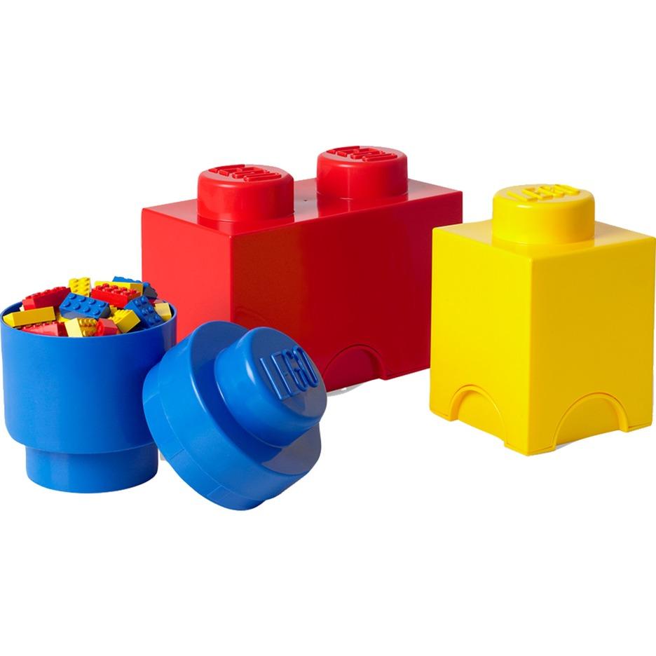 40140001 Azul, Rojo, Amarillo caja de juguete y de almacenamiento, Caja de depósito