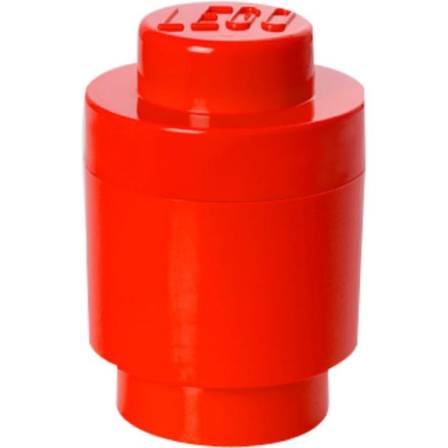 Ladrillo Cilíndrico de almacenamiento LEGO (1 espiga) - Rojo