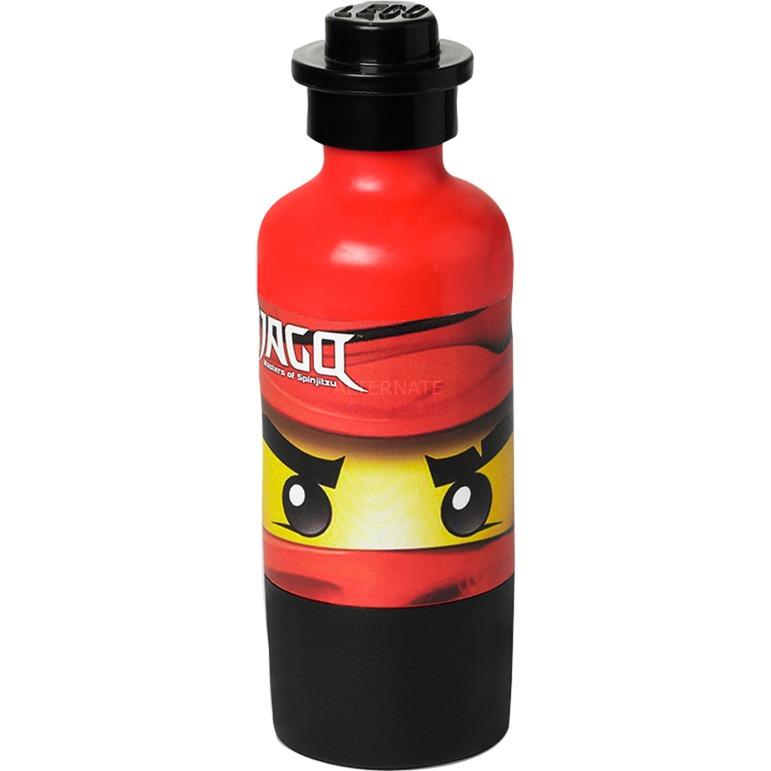 4055 bidón de agua 375 ml Negro, Rojo, Botella de agua