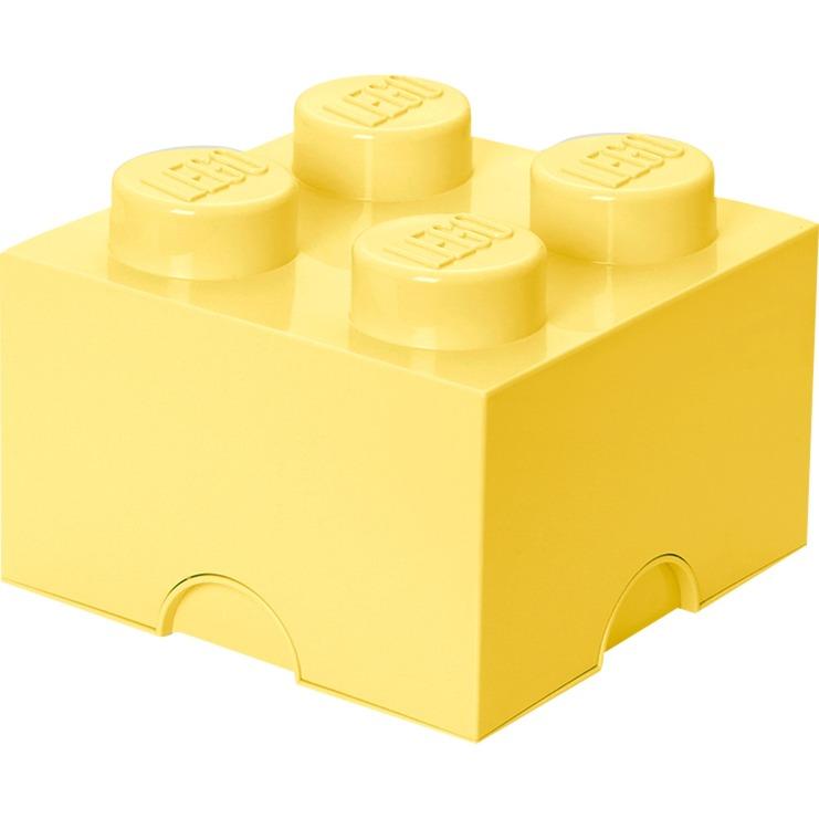 Ladrillo de almacenamiento LEGO (4 espigas) - Amarillo claro