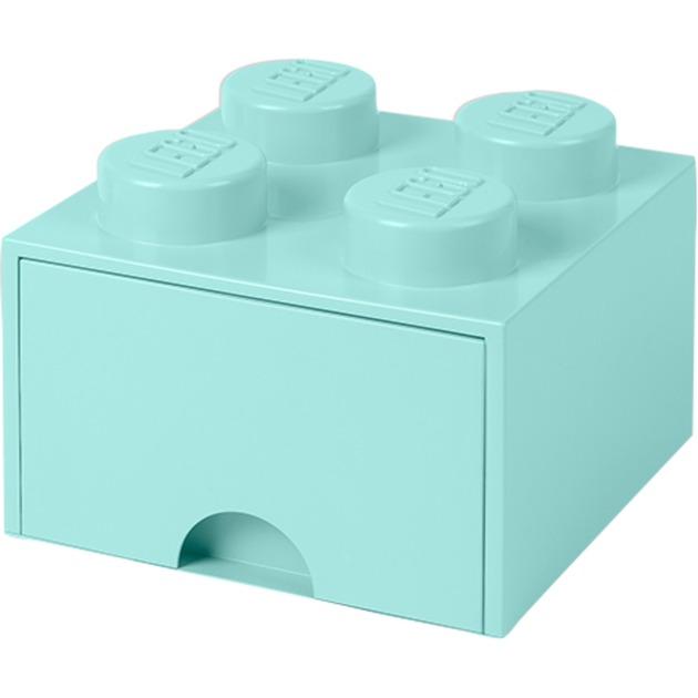 Ladrillo de almacenamiento LEGO (4 espigas) - 1 cajón - Azul claro