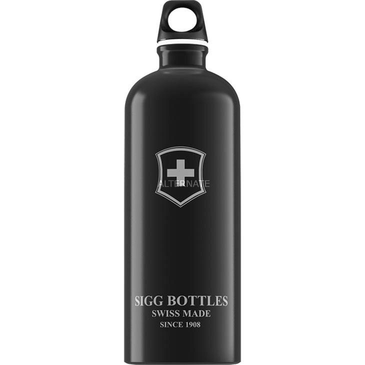 1.0 L Swiss Emblem bidón de agua 1000 ml Negro, Botella de agua